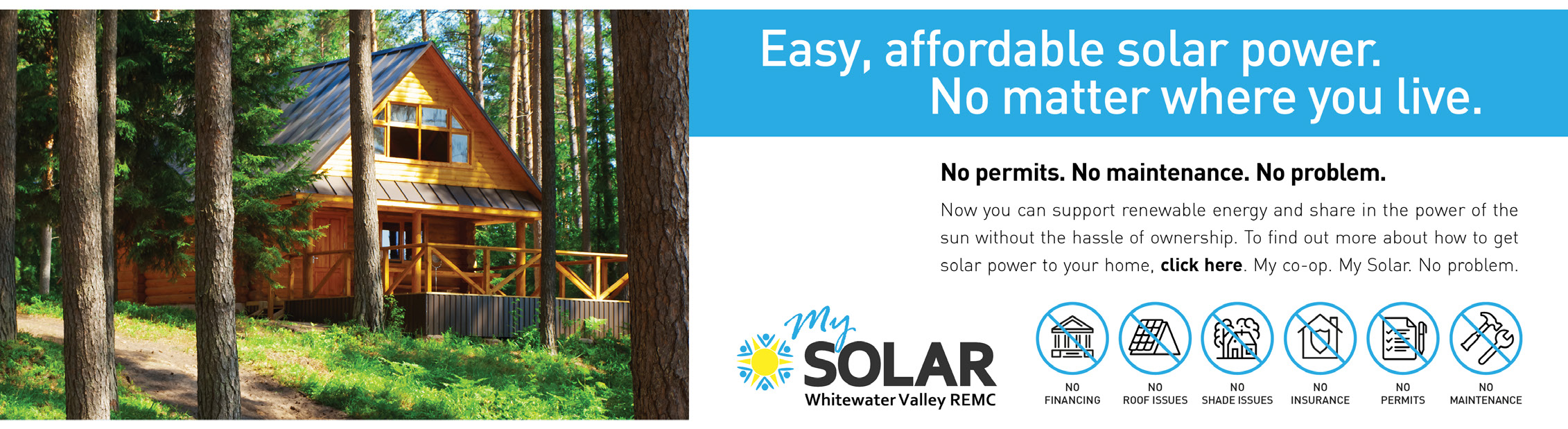 Easy, affordable solar power. No matter where you live.